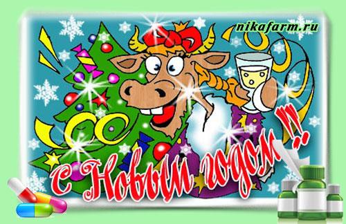 Новогоднее поздравление на блоге