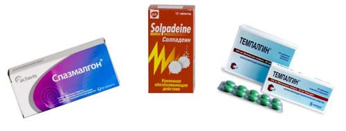 препараты от боли и спазма