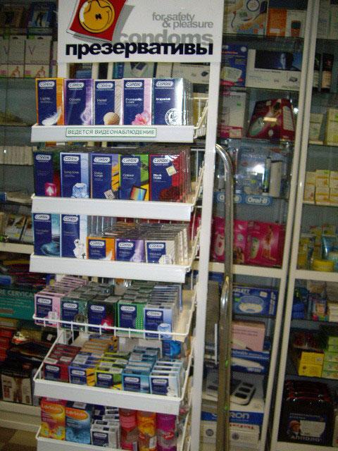 выкладка презервативов