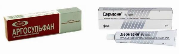 аргосульфан и дермазин