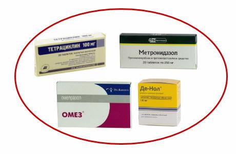 схема лечения язвенной болезни