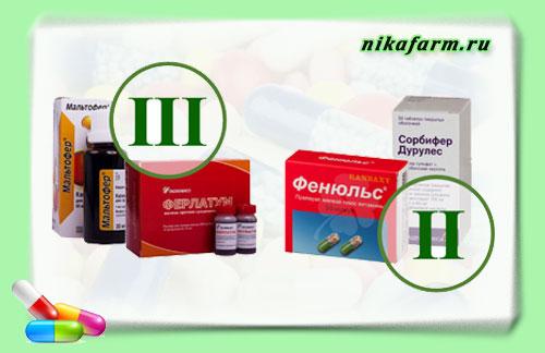 Препараты, содержащие железо