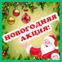 Новогодняя акция! Только до 31 декабря!