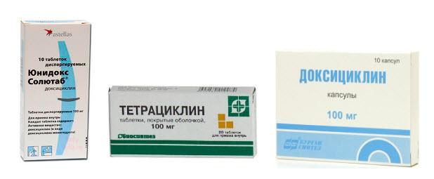 препараты тетрациклинового ряда