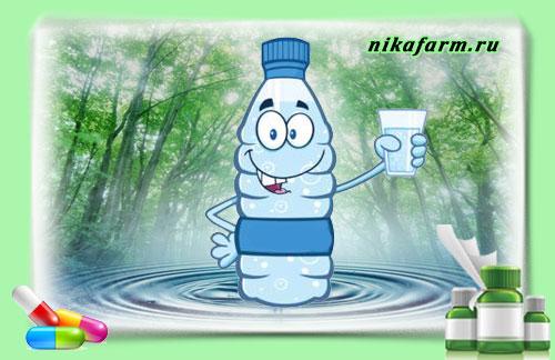 Минеральная вода в аптеке
